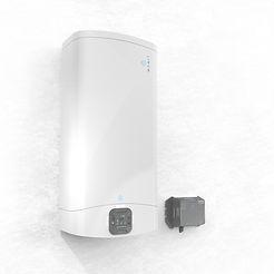 Image du chauffe-eau hybride et le SolarConnector