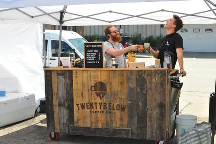 Buy a mug, get coffee from Twenty Below Coffee Co.