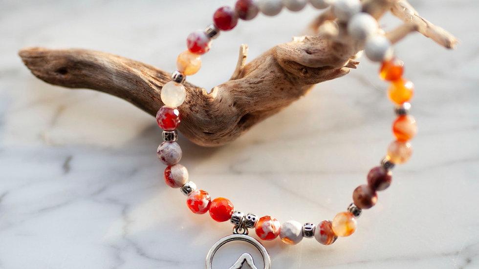 Fire Agate Diffuser Bracelet