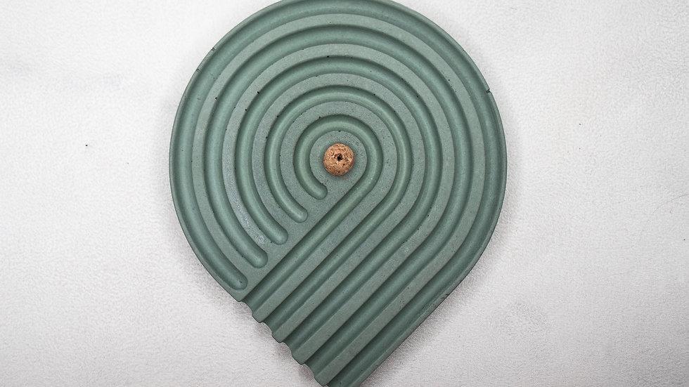 Sage Spiral Incense Holder
