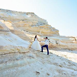 Свадебная фотосессия   Белые скалы   Пафос