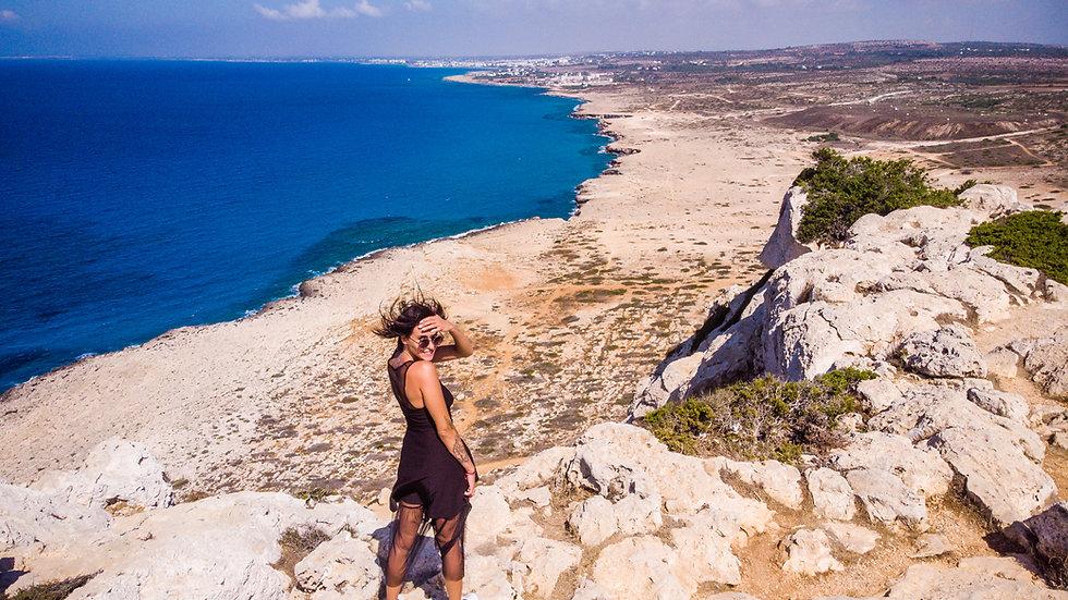 excursion in cyprus. best places in agia napa. cavo greco. sea caves. protaras. photoshoot. photo tour