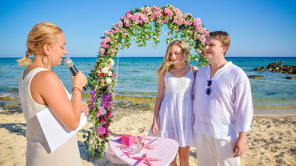 Свадьба на Кипре. Свадьба в айя напе. Свадебная церемония. Символическая свадьба на кипре. Свадбьа протарас. Фотосессия кипр