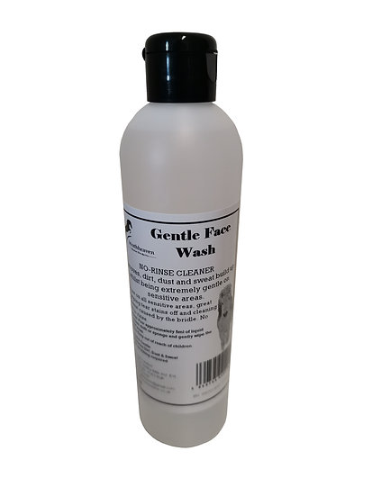 Equine Gentle Face Wash for Horses. No-Rinse Cleaner for all Sensitive Areas.