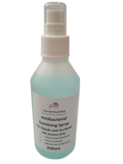 Antibacterial Sanitising Spray - Multi-Purpose 200ml (IPA) Disinfectant