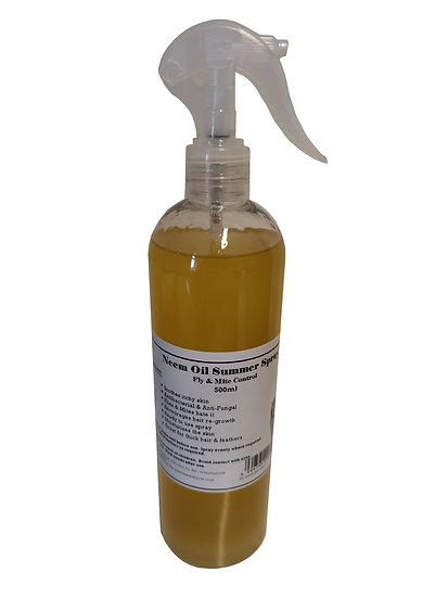 Equine Neem Oil Summer Spray for Horses 500ml Fly & Mite Control Soothes Itching