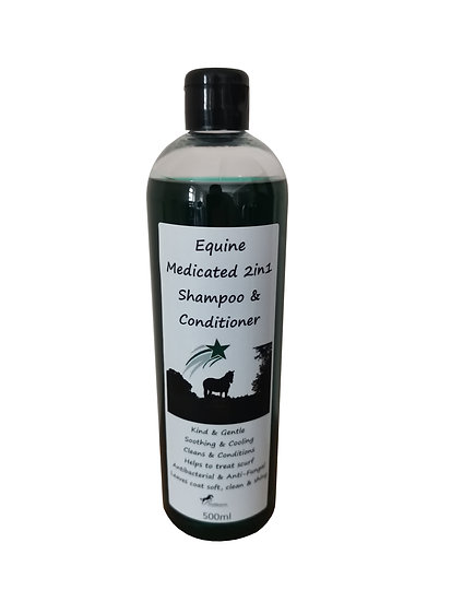 Medicated 2in1 Shampoo & Conditioner for Horses