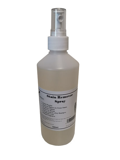 Horse Stain Remover Spray 500ml. Instant Results! Removes Stable & Grass Stains