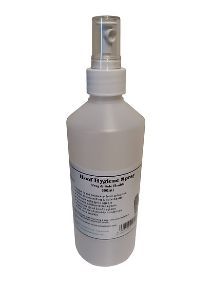 Equine Hoof Hygiene Spray for Horses 500ml. Frog & Sole Health. Antibacterial.