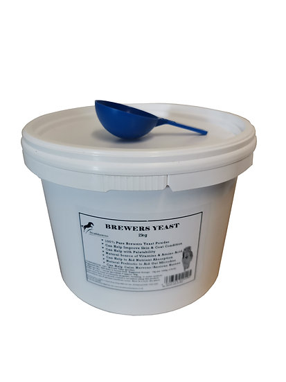 Equine Brewers Yeast Powder for Horses Large 2kg Tub with scoop. 100% Pure.