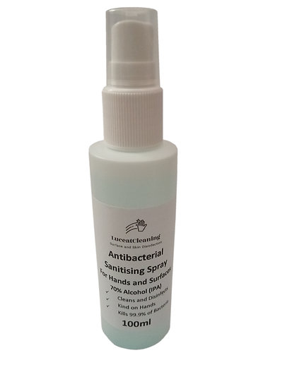 Hand and surface sanitiser. 100ml spray