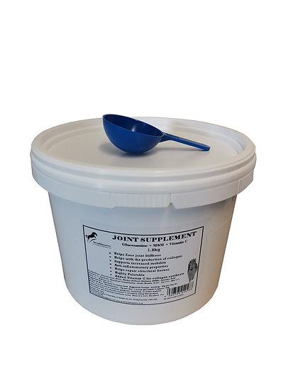 Equine Joint Supplement Glucosamine, MSM, Vitamin C for Horses 1.8kg Tub + Scoop