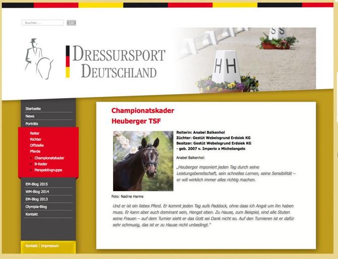 Dressursport Deutschland Heuberger