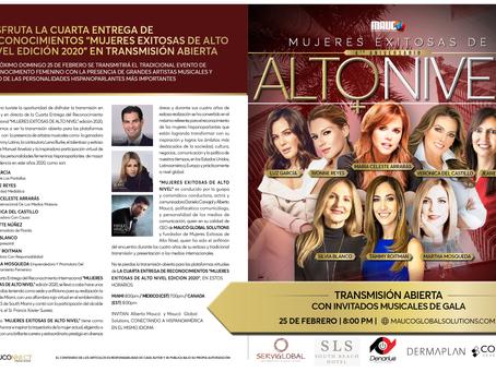 """Disfruta La Cuarta Entrega De Reconocimientos """"Mujeres Exitosas De Alto Nivel Edición 2020"""""""