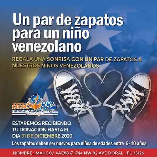 Zapatos para un nino venezolano