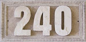 Plaque d'adresse beige