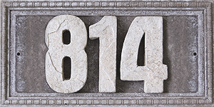 Plaque d'adresse grise