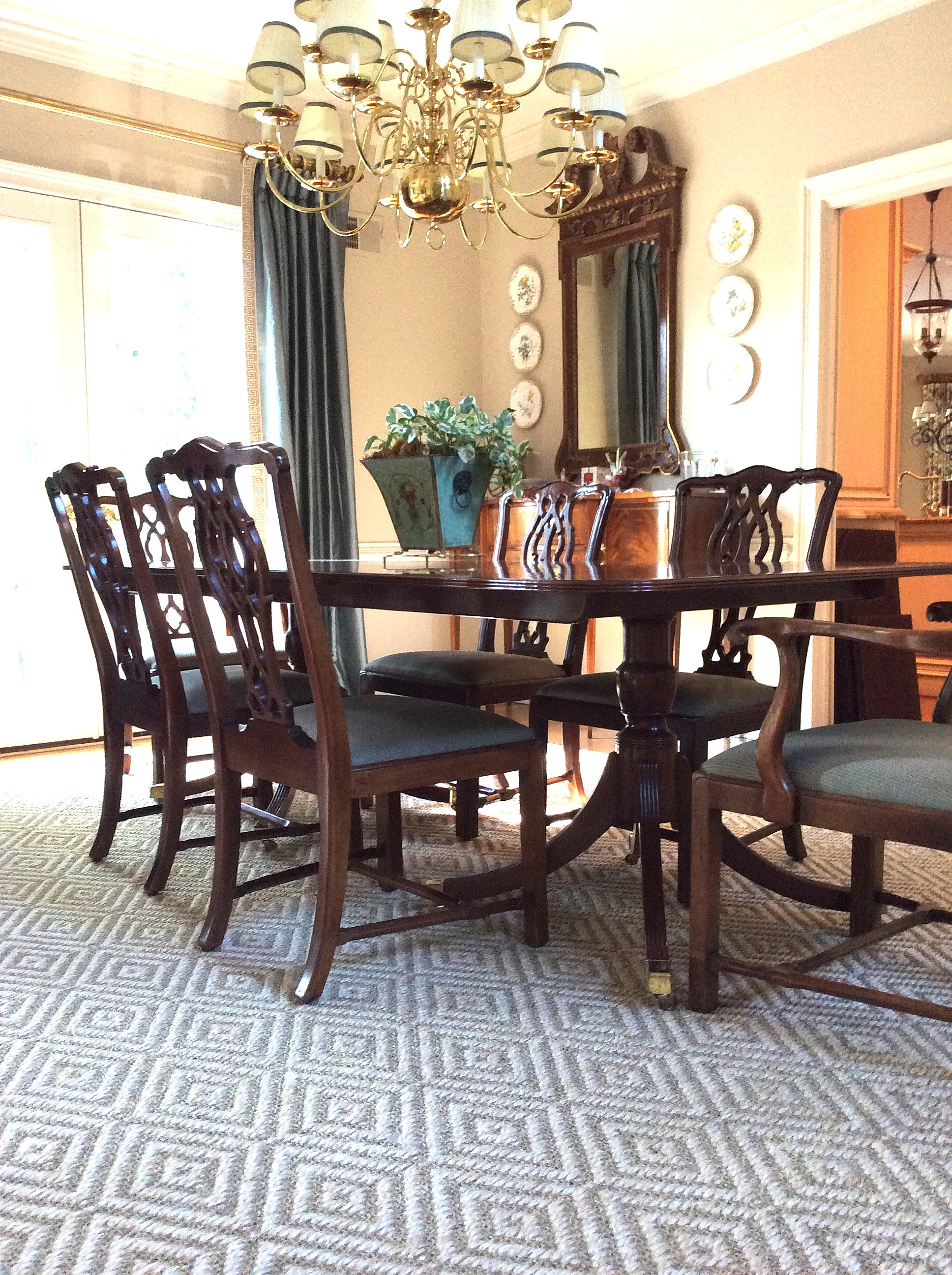 Interior designers in charleston sc - Stark Dining Room Rug Done By Charleston Sc Interior Designer