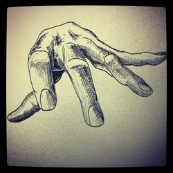 I'ma grope you with this hand~ #pen #ink #drawing #hand #messy