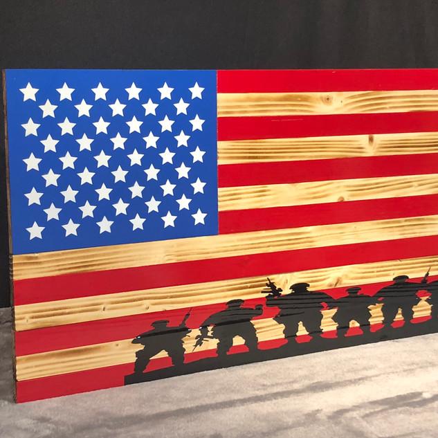 Custom Wood Flag by Rustic Wood Work