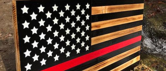 Thin Red Line Flag, Retired Firefighter, Firefighter Gift