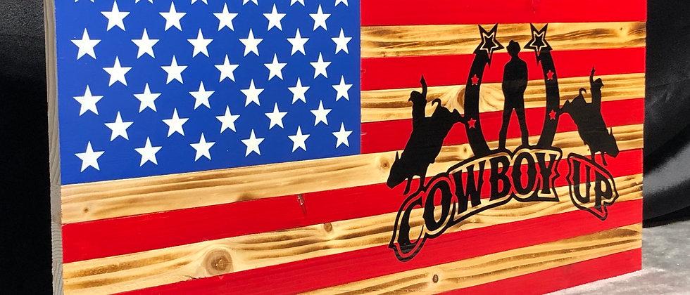 Cowboy up bull riding