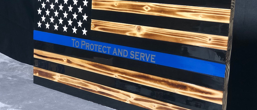 Thin Blue line protect and serve
