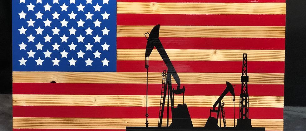 Oil Well / American Flag