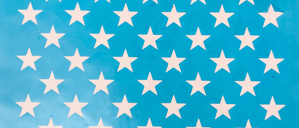 50 Star Stencil