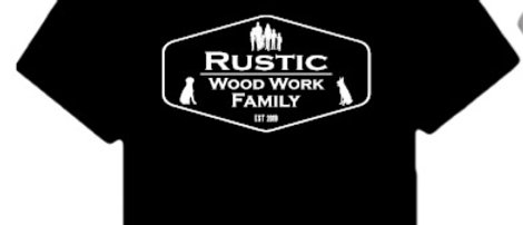 Rustic Wood Work & Family Shirts