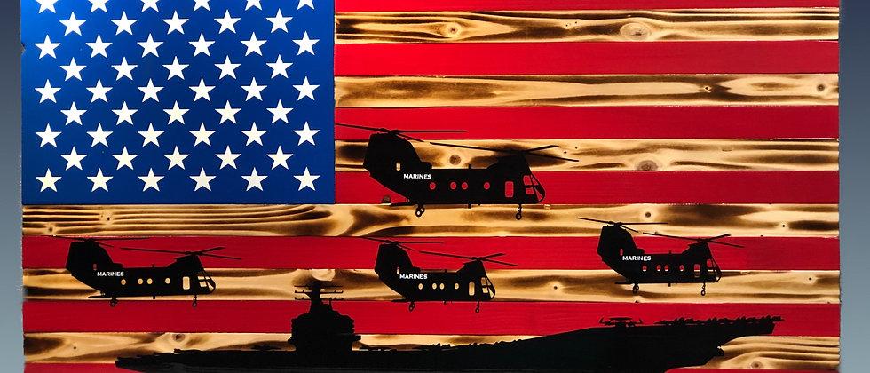 Rustic flag / Hawkeyes