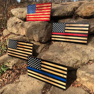 Rustic Wood Work Flags