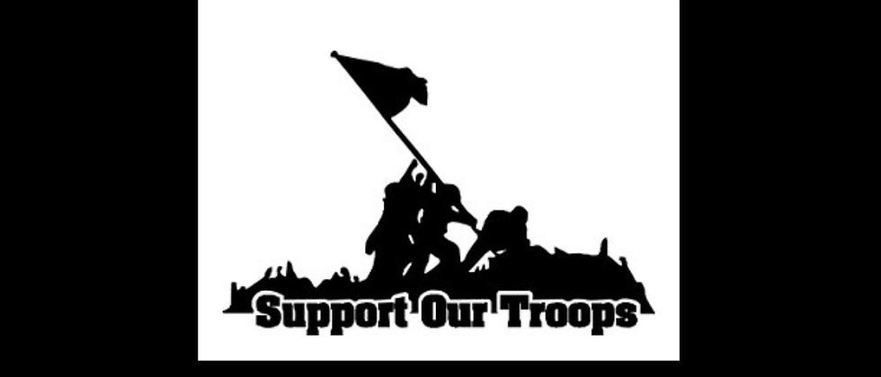 Supports our troops