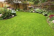 Home Garden. Residential garden transiti