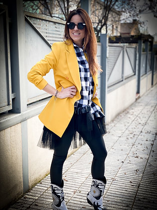Americana larga yellow