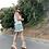 Thumbnail: Falda mini verde florecitas