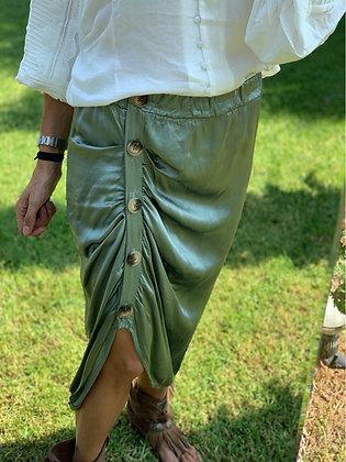 Falda raso fruncida