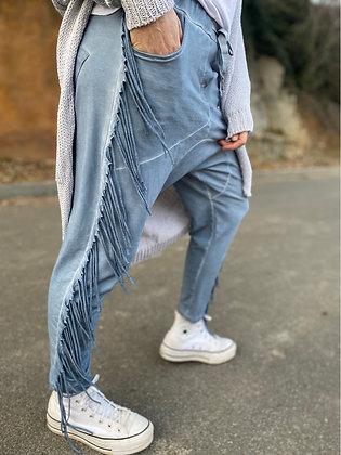 Pantalón chandal flecos