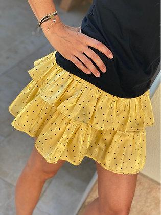 Falda/pantalón mini yellow