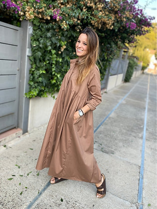 Vestido camisero largo
