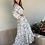 Thumbnail: Vestido largo crema flores