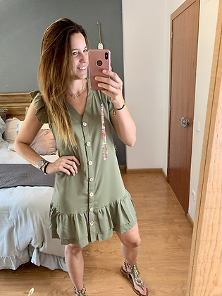 Vestido corto camisero