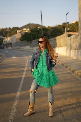 Vestido/Blusa lino verde