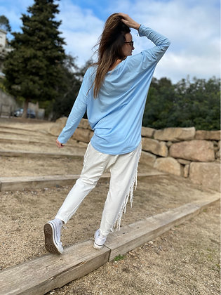 Camiseta lisa oversize