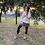 Thumbnail: Falda mini negra estampada