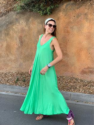 Vestido liso color