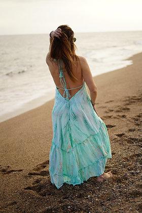 Vestido playa turquesa