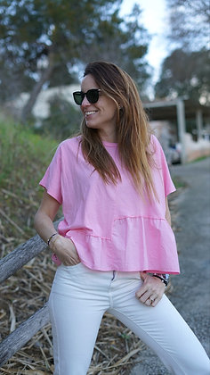 Camiseta corta rosita
