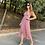 Thumbnail: Vestido rosa flores