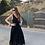 Thumbnail: Vestido tirado algodón negro
